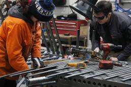 Dinosaur Bridge in workshop bending