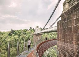 Clifton Suspension Bridge with walkway from abutment