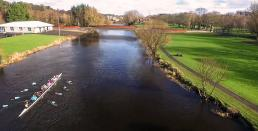 long view of river and dublin bridge