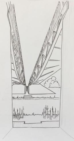 Preliminary Sketch of Dublin Bridge