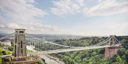 Clifton Suspension Bridge with walkway from air