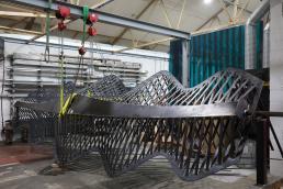 Dinosaur Bridge in workshop