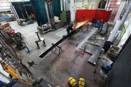 Dinosaur Bridge in workshop grinding